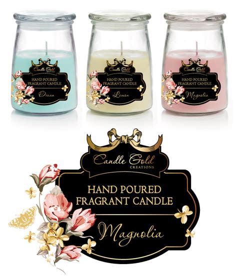 Candle Labels Stickers Template Candle Label Templates