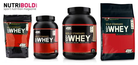Whey Protein On Gold Standard diferentes envases de gold standard 100 whey de optimum