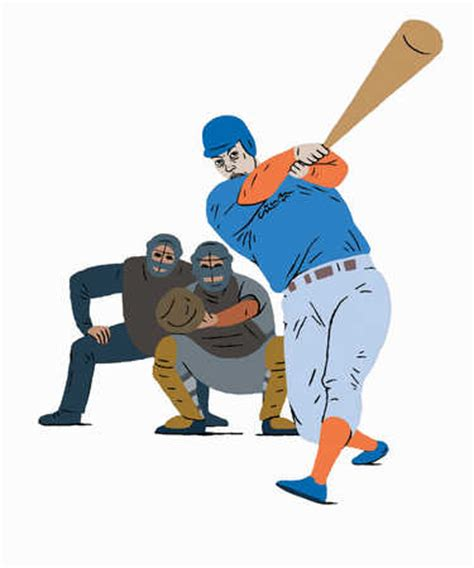 swinging bat stock illustration a batter swinging the bat in a