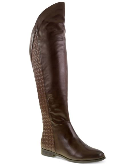 laundry boots laundry racer quilted the knee boots in brown