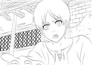 Eren Attack On Titan Coloring Pages Sketch Page sketch template