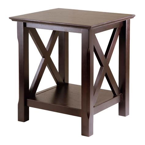 small card table amazon amazon com winsome wood xola end table kitchen dining