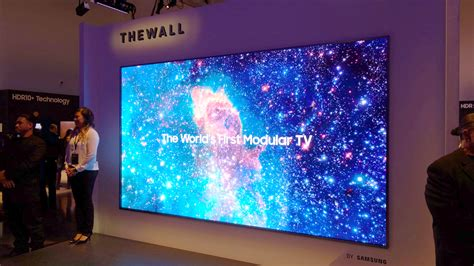 samsung wall tv samsung the wall samsung launches 146in modular tv at ces 2018 expert reviews