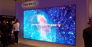 Image result for Samsung The Wall TV. Size: 314 x 160. Source: www.expertreviews.co.uk