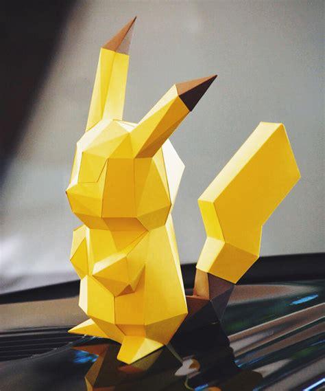 Origami Pikachu 3d - paper craft diy pikachu paper model by