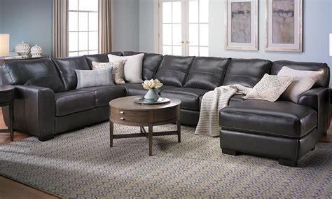 leather sofa with chaise sectional malcolm italian leather sectional with chaise the dump