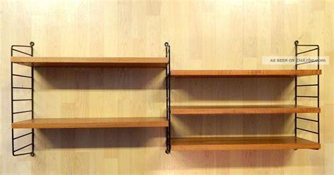 regal designklassiker string regal teakholz designklassiker string ladder shelf