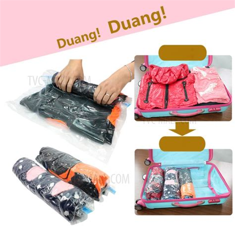 40x60cm Nacai Roll Vacuum Bag 1 Set Isi 2pcs Berkualitas 6pcs set large size roll up compression storage bags