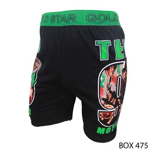 boxer spandex warna hitam kombinasi spandex hitam