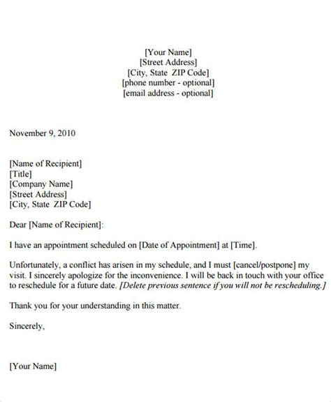 appointment letter and regulations appointment reminder letter template free letter