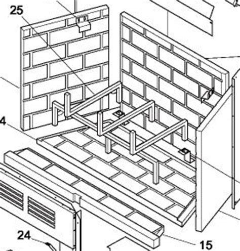 106969 01 brick liner refractory rear panel