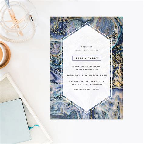Contemporary Home Plans And Designs blue purple and gold marbled wedding invitations