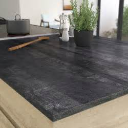 plan de travail droit stratifie vintage wood noir 315 x 65