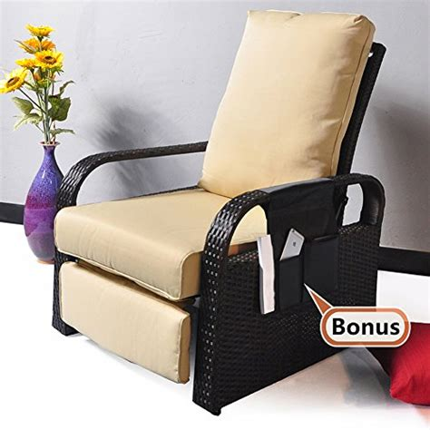 assemble yourself sofa outdoor resin wicker patio recliner chair with cushions