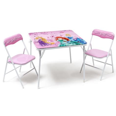 Childrens Folding Table And Chairs Set Deltachildren Princess Folding Children 3 Square Table And Chair Set Wayfair Uk