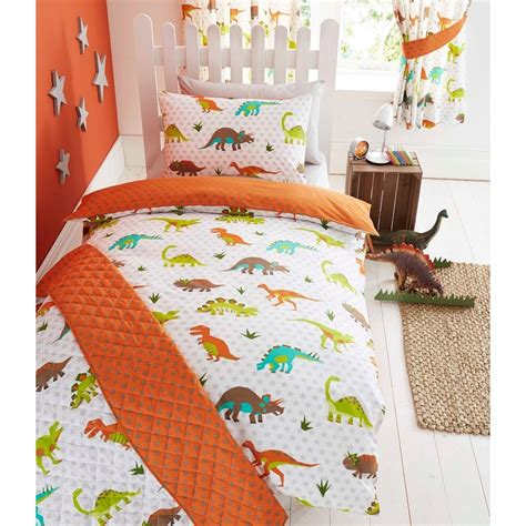 Dinosaur Design Single Double Duvet Cover Sets Boys Bedding For