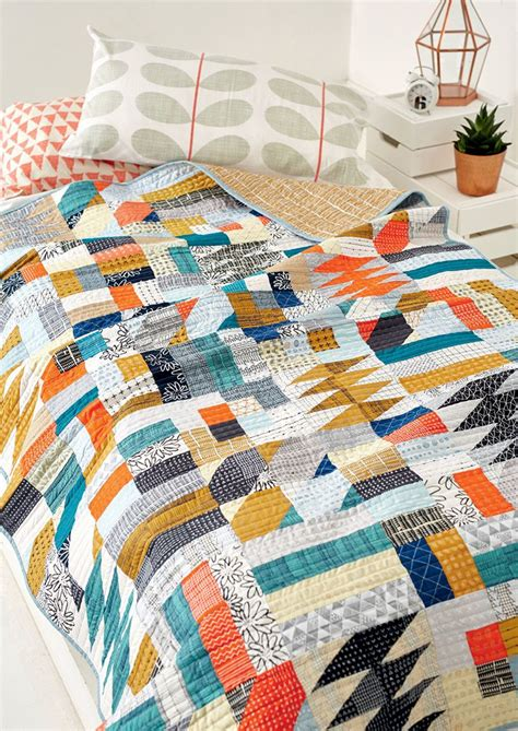 Modern Patchwork Quilts - nordic cool quilt by lewis for patchwork