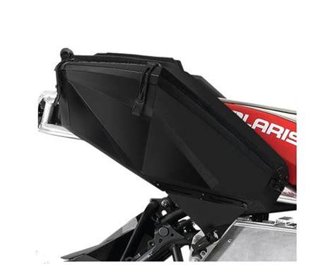 snowmobile cargo rack saddle bag black polaris snowmobiles