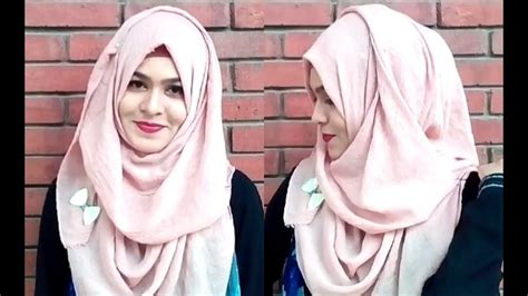 layer   easy beauty hijab style  school