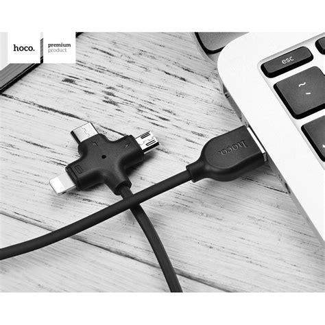 Kabel Charger Usb Type C Hoco X1 hoco x10 starfish kabel charger 3 in 1 micro usb