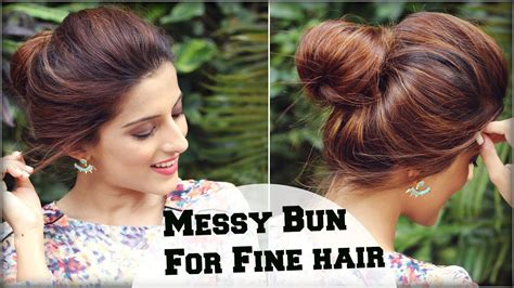 quick work hairstyles for thin hair 2 min easy everyday top messy bun hairstyle for fine