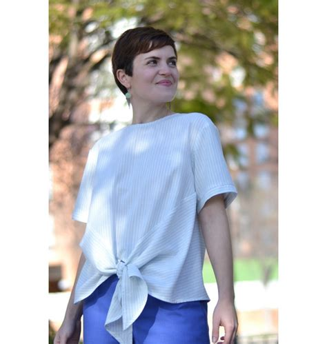 Denia Blouse by Denia Blouse Pdf Pattern Paulinealice