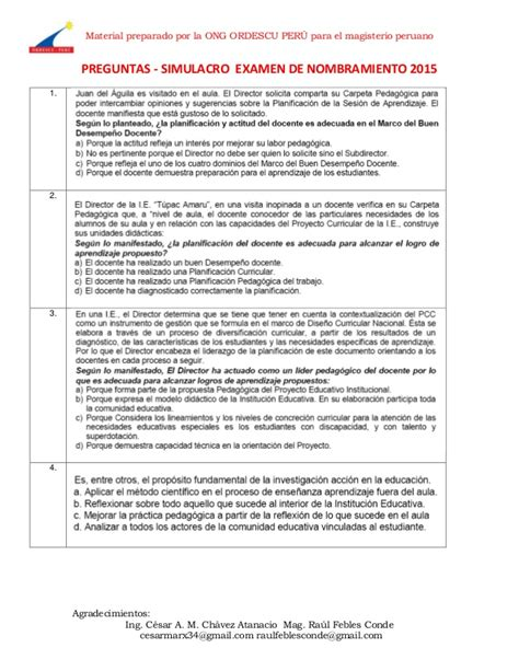 preguntas del si o no ecuador 163 preguntas simulacro examen de nombramiento 2015 con claves