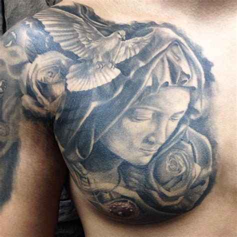 rose chest tattoos for men 35 awesome dove tattoos on chest