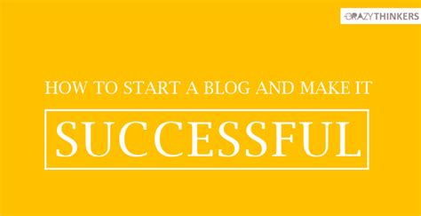 How To Start An Online Blog And Make Money - how to start a successful blog easy tips to make money online quickly