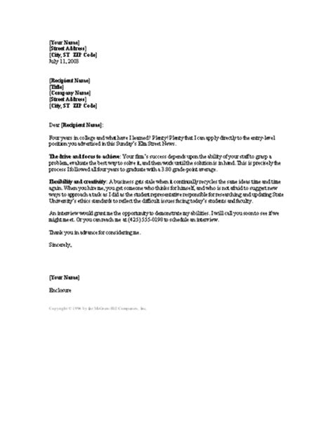 recent grad cover letter great cover letters for college graduates cover letter