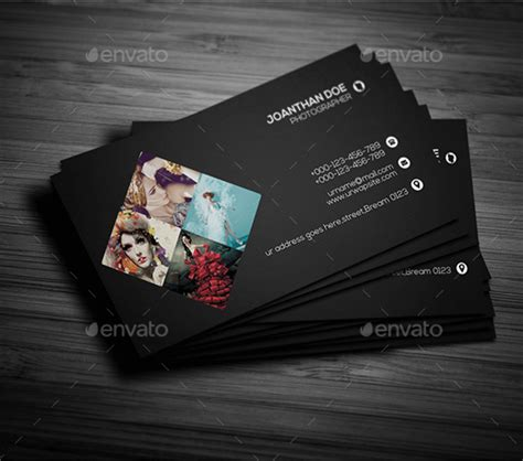 photography card templates name card template psd free ideas easy editable