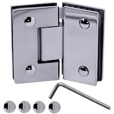 Set Stainless Steel Glass Door Hinge Bathroom Shower Cabin Stainless Steel Glass Door