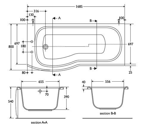 bathtub section dwg realcad draft