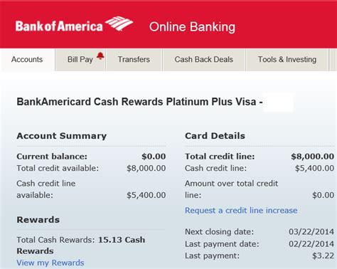 bank of america credit card login bank of america rewards card login infocard co
