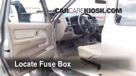 interior fuse box location 2000 2004 nissan xterra 2002