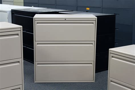 Haworth Lateral File Cabinet Used Haworth 3 Drawer Lateral File Filing Cabinets