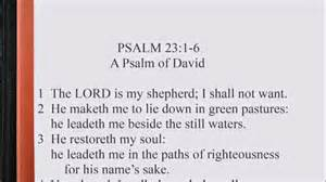 Psalm 23 The Lord Is My Shepherd » Home Design 2017