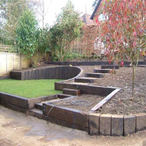 Using Railway Sleepers As Garden Edging by Grade Quot A Quot Railway Sleepers Mccarthys Fuels Builders