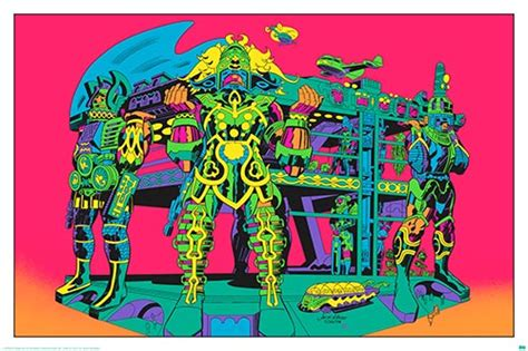 jack kirby lord of light prints jack kirby s argo art to be released as blacklight posters