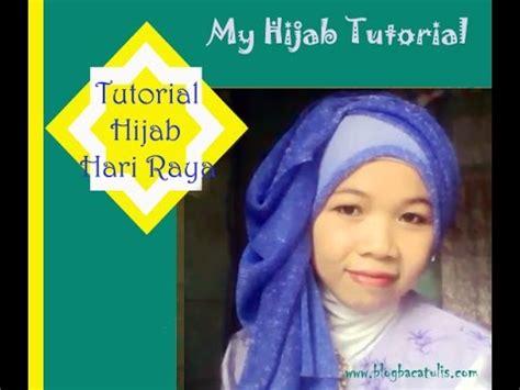 tutorial hijab untuk sholat ied my hijab tutorial tutorial hijab hari raya lebaran youtube