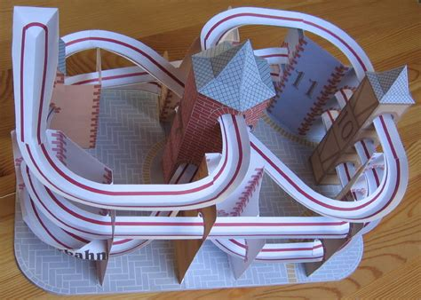 How To Make Paper Roller Coaster - lutz s web site paper model roller coaster