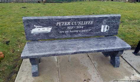 bench headstones granite memorial benches