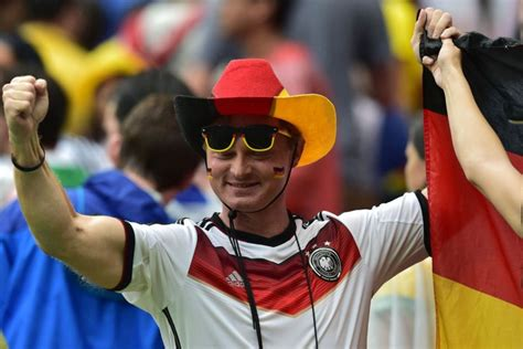 hats with fans on them why do german football soccer fans wear cowboy hats