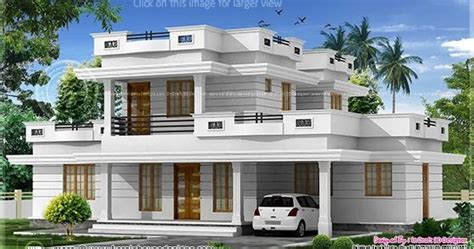 3 bed room flat roof villa with courtyard 2172 sq ft kerala home design and floor plans