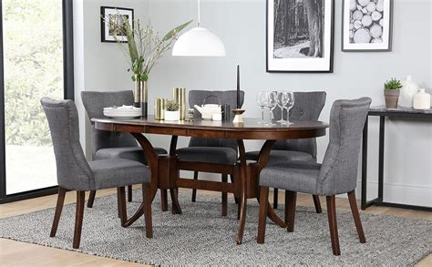 Oval Extending Dining Table And Chairs Townhouse Oval Wood Extending Dining Table And 4 Chairs Set Bewley Slate Only 163 499 99