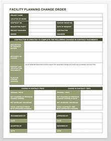 change order template complete collection of free change order forms smartsheet