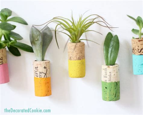 cork succulent planter wine cork succulent planter magnets home decor craft
