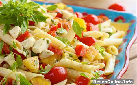 resep membuat pasta salad enak  sederhana reseponline