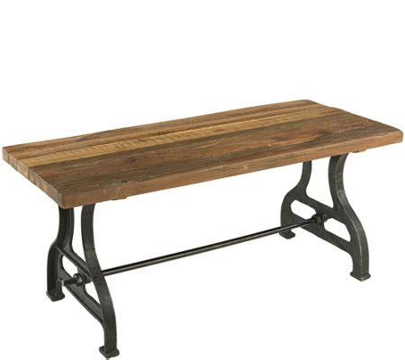 plow and hearth bench plow hearth reclaimed wood bench with iron base