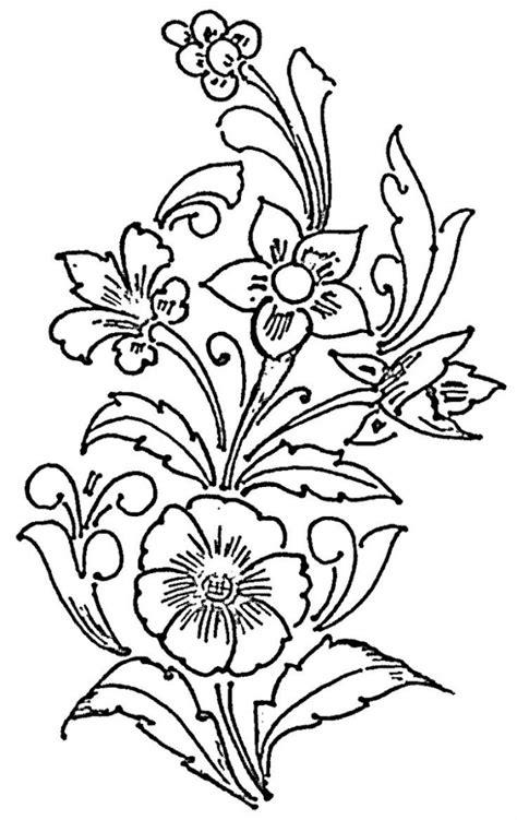 Simple Outline Drawings Of Flowers